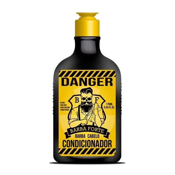Barba Forte Danger Condicionador Bomba Barba E Cabelo 170ml