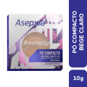 Asepxia Maquiagem Pó Compacto Antiacne Bege Claro FPS20 10g