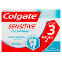 Kit 3x50g Creme Dental Colgate Sensitive Alívio Original