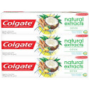Kit 3x90g Creme Dental Colgate Natural Extracts Detox