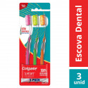 Escova Dental Colgate Slim Soft Advanced c/ 3 Unidades