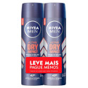 Kit 2x150mL Desodorante Nivea Men Active Dry Impact Aerosol