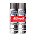 Kit 2x150mL Desodorante Nivea Men Invisible Black White Aero