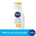 Protetor Solar Nivea Sun Kids Sensitive FPS60 125mL