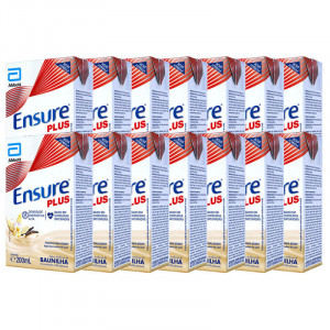 Kit 14x200mL Ensure Plus Baunilha Suplementos Adulto