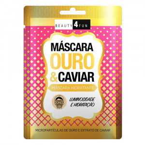 Máscara Facial Beauty 4 Fun Ouro e Caviar 8g