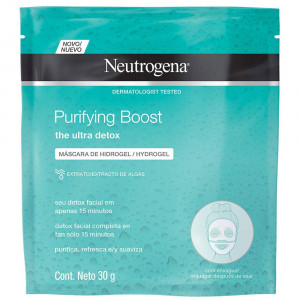Neutrogena Purifying Boost Máscara Facial de Hidrogel 30g