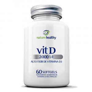 Vitamina D 2.000UI Nature Healthy c/ 60 Cápsulas