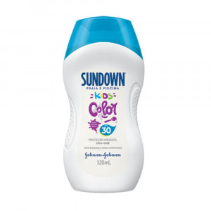Protetor Solar Sundown Kids Color FPS 30 120mL