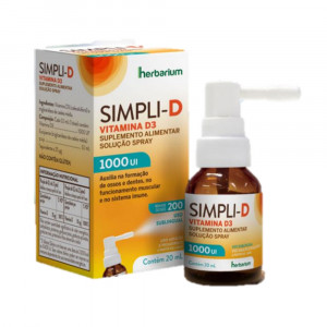 Simpli D 1000UI Vitamina D-Colecalciferol em Spray Oral 20mL