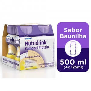 Nutridrink Compact Protein Suplemento Nutric Baunilha 4x125mL