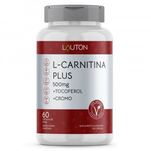 L-Carnitina Plus Lauton Nutrition 500mg c/60 Cápsulas