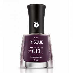 Risqué Esmalte Cremoso Diamond Gel 9,5mL - Calda de Blueberry