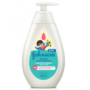 Sabonete Líquido Johnsons Kids Limpeza Super Poderosa 400mL