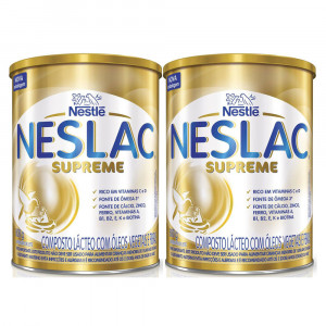 Kit 2x800g Neslac Supreme Composto Lácteo Infant Nestlé Lata