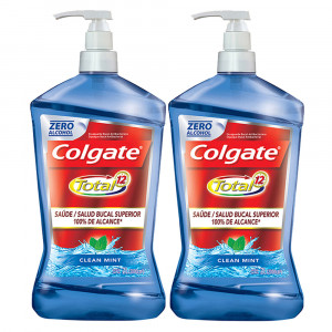 Kit 2x2L Enxaguante Bucal Colgate Total 12 Clean Mint