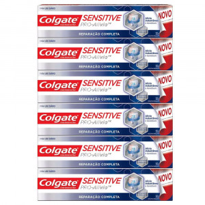 Kit 6x50g Cr Dental Colgate Sensit Pró-alívio Rep Completa