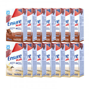 Kit 14x200mL Ensure Plus (7 Chocolate + 7 Baunilha)