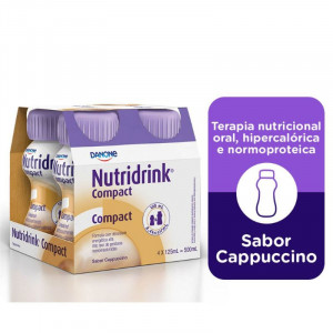 Nutridrink Compact Suplemento Nutricional Capuccino 4x125mL