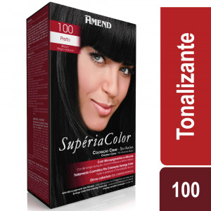 Amend Supéria Color Tonalizante Kit Preto 100