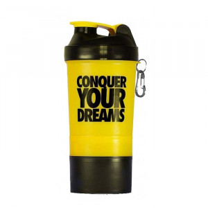 Coqueteleira Iridium Labs Conquer Your Dreams Amarela 500ml