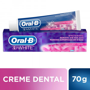 Creme Dental Oral-B 3D White Brilliant Fresh 70g