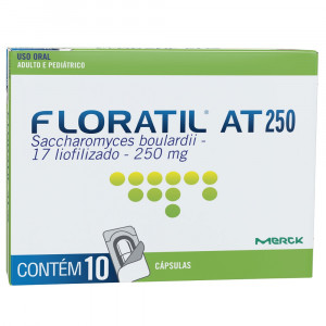 Floratil AT 250mg c/ 10 Cápsulas