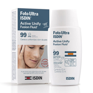 Foto Ultra ISDIN Active Unify Fusion Fluid s/ Cor FPS99 50mL