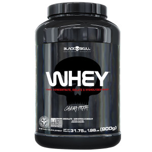 Whey Protein Black Skull Sabor Chocolate Pote 900g