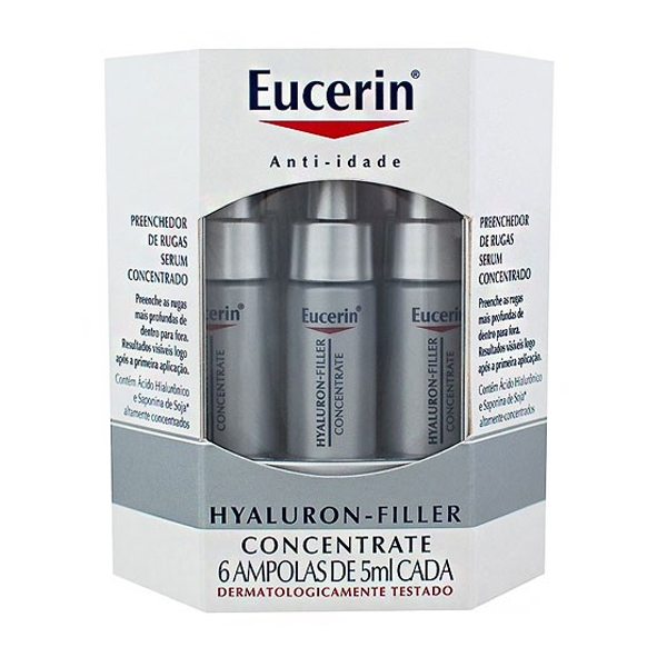 Eucerin Hyaluron-Filler Concentrate Preenchedor Rugas c/6