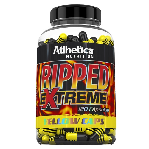 Ripped Extreme Yellow Caps Atlhetica Nutrition 120 Cápsulas